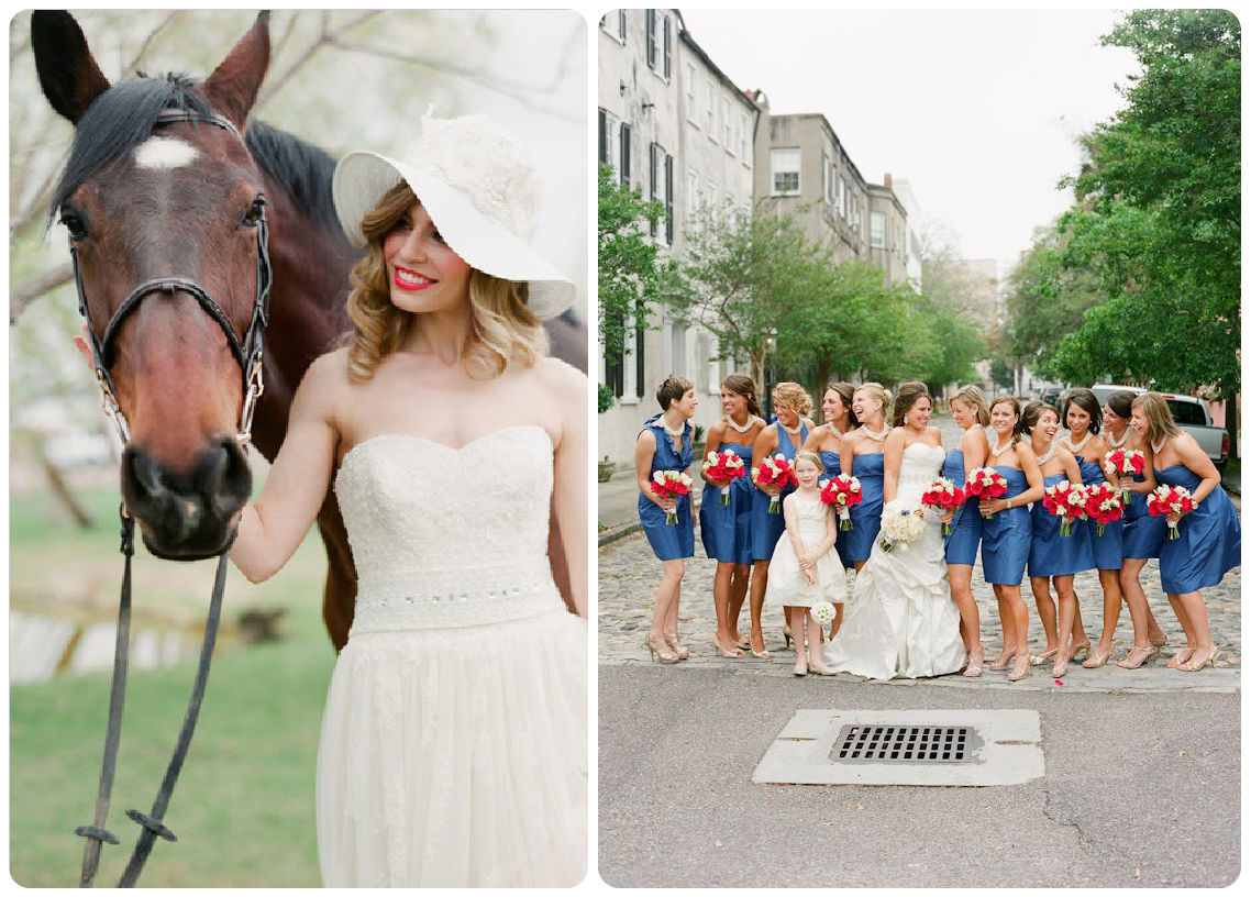 Derby bride and bridesmaids - Wedding Belles