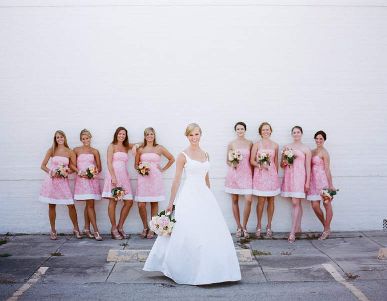 Bridesmaids in Lilly Pulitzer - Fairly Southern