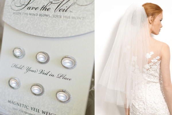 Wedding Hacks via Loverly - Use veil weights! - Fairly Southern