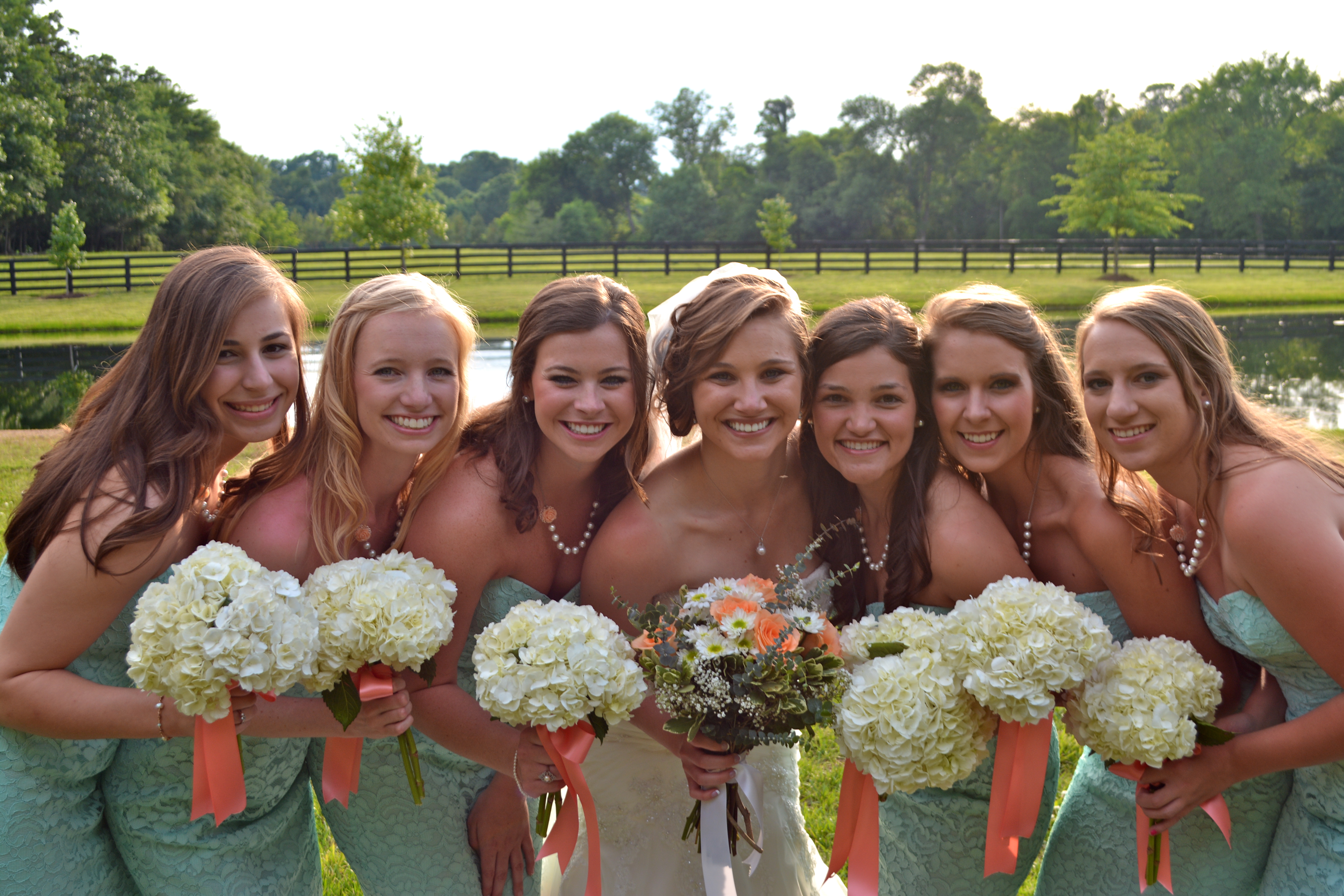 NC Farm Wedding with Accents of Apricot and Aqua - Wedding Belles Blog