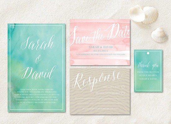 Beach Invitation Suite by Wedding Chicks - Fairly Southern