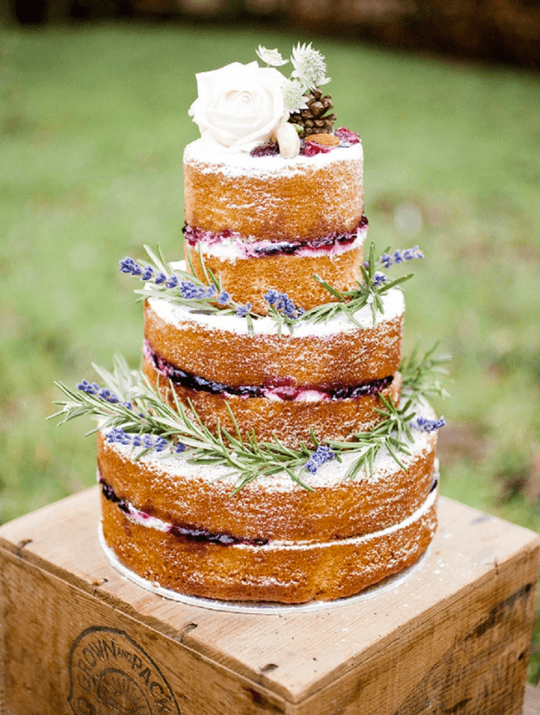 Least Favorite Wedding Trend of 2014: Naked Wedding Cakes - Fairly Southern