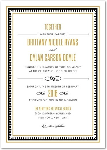 Lavish Union Wedding Invitation from the Wedding Paper Divas Southern Living Collection - Fairly Southern