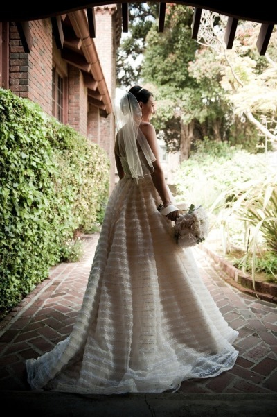 Striped Christos Wedding Gown - Fairly Southern