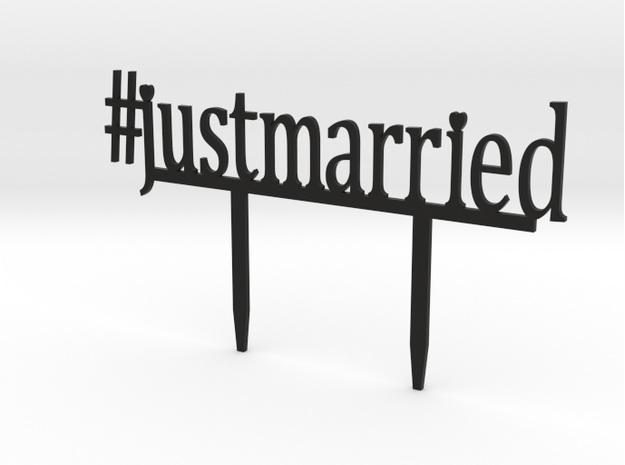 3D Printed #justmarried Cake Topper - Fairly Southern