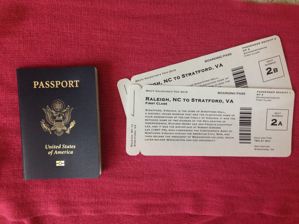 Easy, Faux Boarding Pass Gift Idea   Fairly Southern