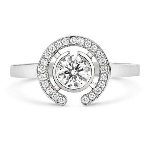 Cred Jewellery Clara Halo Solitaire Engagement Ring (Fair Trade, ethically sourced, conflict free) | Fairly Southern
