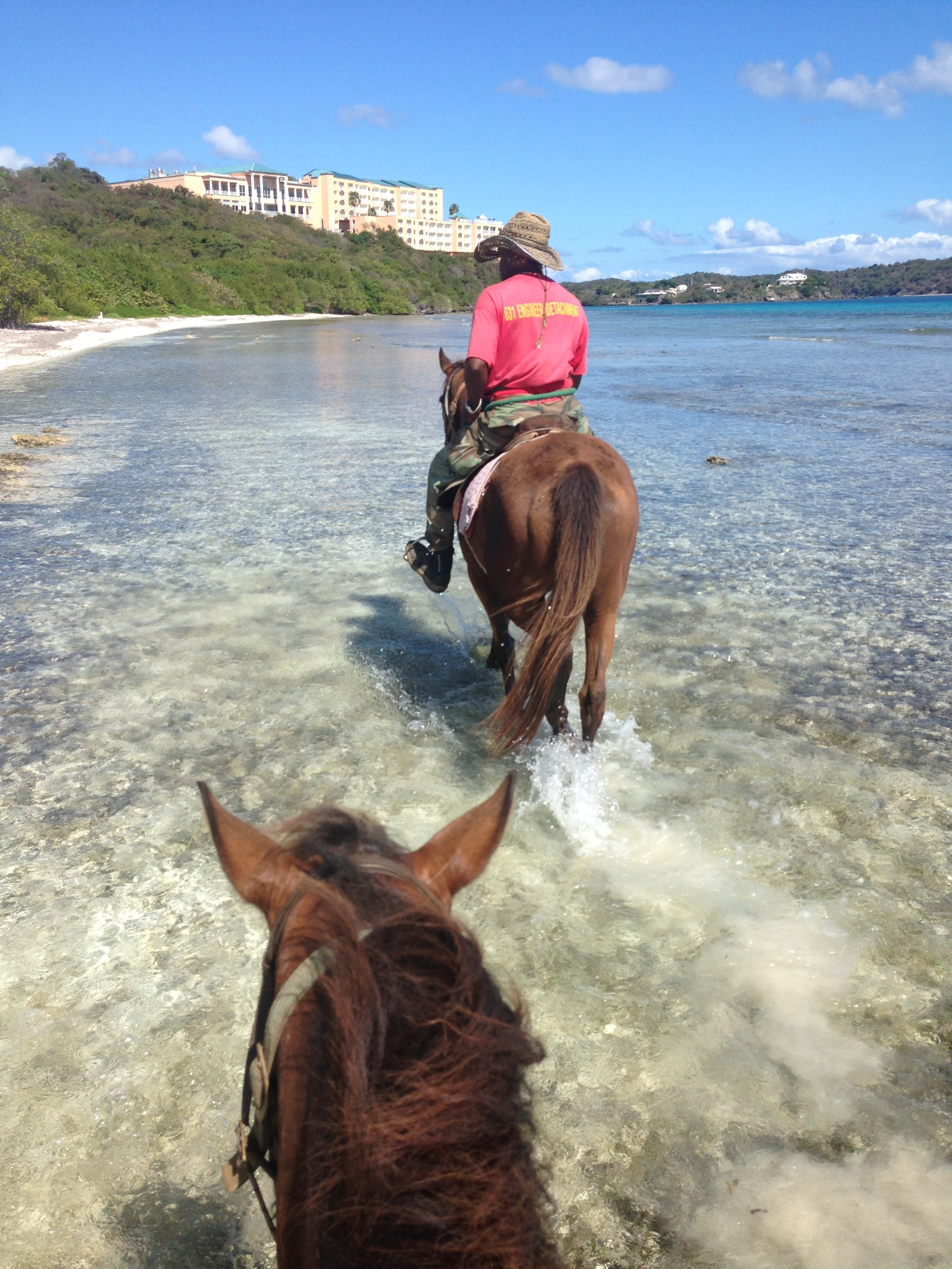Horseback riding on the beach in St. Thomas, US Virgin Islands | Fairly Southern