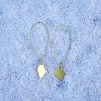 GIVEAWAY: Ethically made gold triangle hoop earrings by Béljoy | Fairly Southern