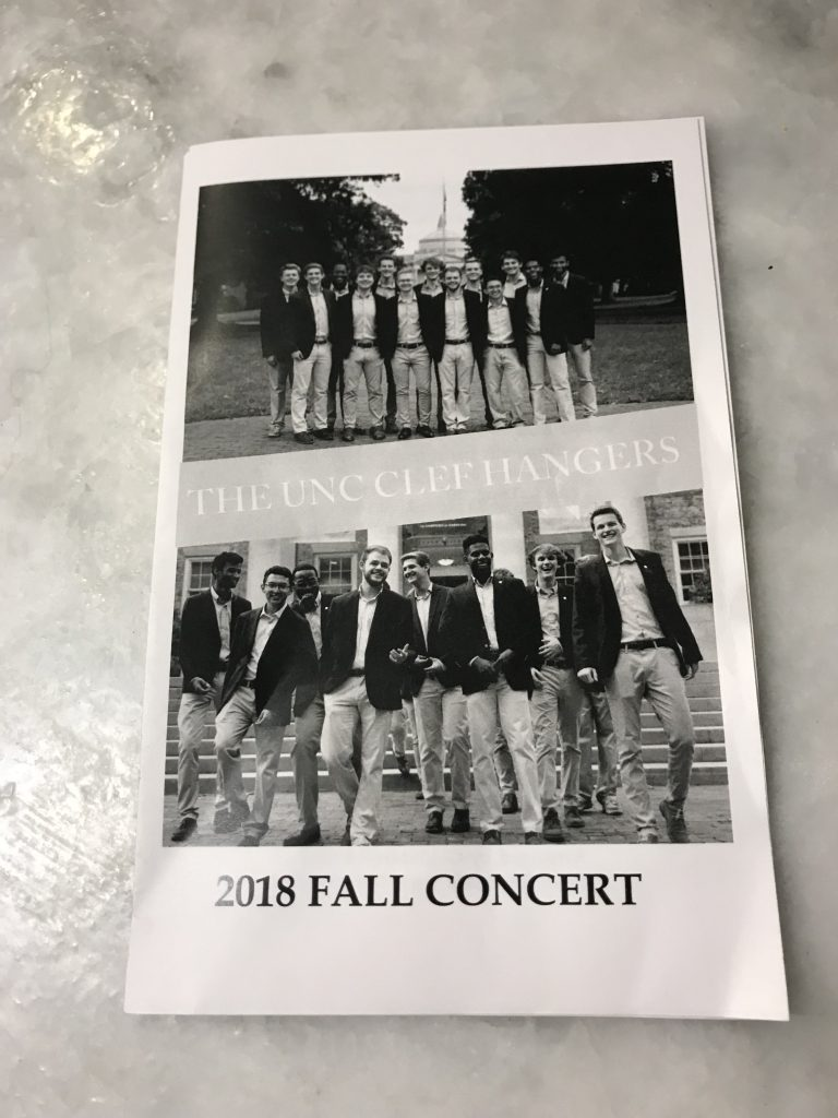 UNC Clef Hangers 2018 Fall Concert | Fairly Southern