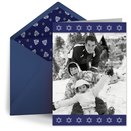 Happy Hanukkah e-card by Punchbowl | Electronic Christmas/Holiday Cards: 5 Reasons to Make the Switch! | Fairly Southern