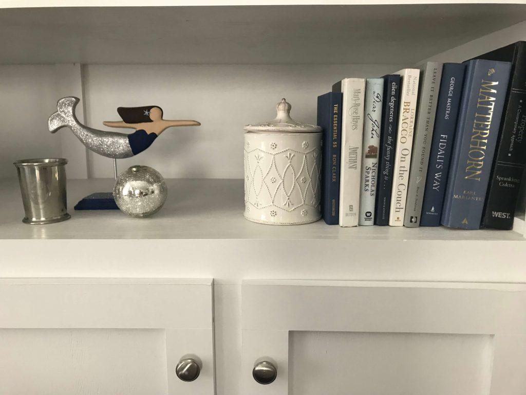 Gray, navy, and indigo home decor -  Small Joys     Fairly Southern