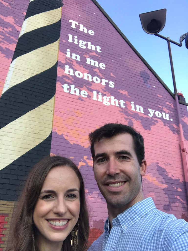 The light in me honors the light in you mural in Chapel Hill -  Small Joys     Fairly Southern