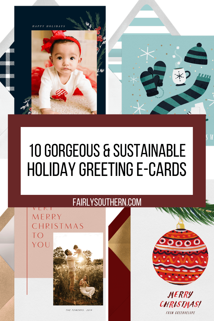 10 Gorgeous & Sustainable Holiday Greeting E-Cards