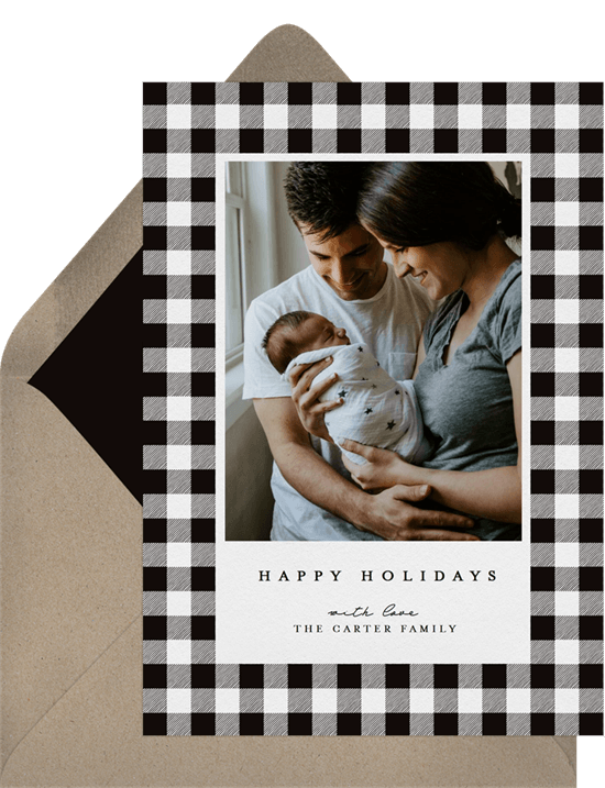 Buffalo Plaid Card by Greenvelope | 10 Gorgeous & Sustainable Holiday Greeting E-Cards | Fairly Southern