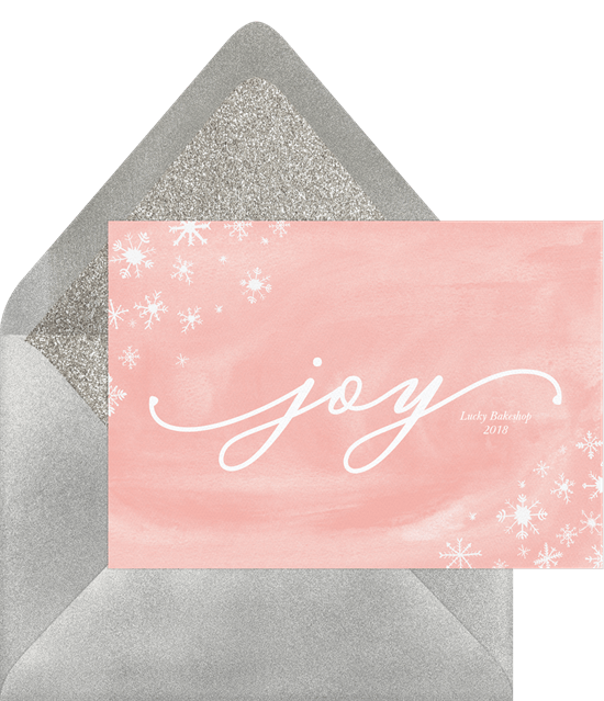 Charming Snowflakes Card by Greenvelope | 10 Gorgeous & Sustainable Holiday Greeting E-Cards | Fairly Southern
